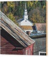 Topsham Village Vermont Wood Print