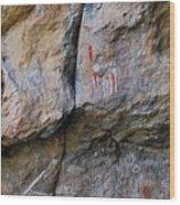Toquima Cave Pictographs Wood Print
