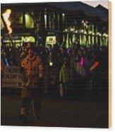 Torchlight Parade Wood Print