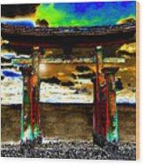 Torii Sunrise Wood Print