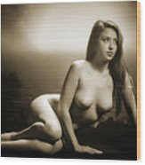 Toriwaits Nude Fine Art Print Photograph In Black And White 5102 Wood Print