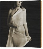 Toriwaits Nude Fine Art Print Photograph In Black And White 5108 Wood Print