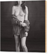 Toriwaits Nude Fine Art Print Photograph In Black And White 5112 Wood Print
