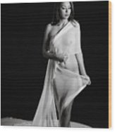 Toriwaits Nude Fine Art Print Photograph In Black And White 5119 Wood Print