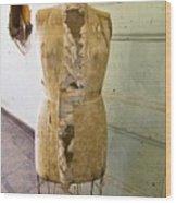 Torn Dress Form Wood Print