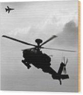 Tornado F3 And Apache Wood Print