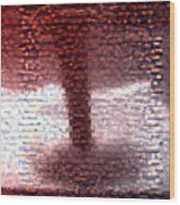 Tornado From Sunsets Mosaic Wood Print