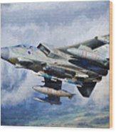 Tornado Gr4 - 2 Wood Print