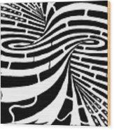 Tornado Maze Wood Print