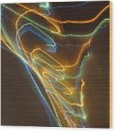 Tornado Of Lights. Dancing Lights Series Wood Print