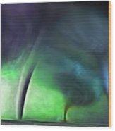 Tornado Storm 1 - Collage Wood Print