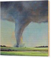 Tornado Touchdown Wood Print