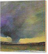 Tornado Warning Wood Print