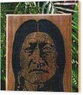 Toro Sentado Wood Print by Calixto Gonzalez