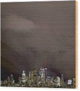 Toronto At Night Wood Print