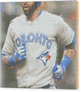 Toronto Blue Jays Jose Bautista Wood Print