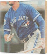 Toronto Blue Jays Troy Tulowitzki Wood Print