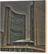 Toronto City Hall Wood Print