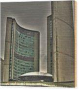 Toronto City Hall2 Wood Print
