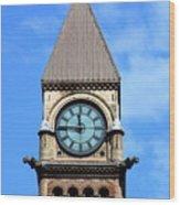 Toronto Clock Tower Wood Print