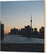 Toronto Downtown And Port Wood Print