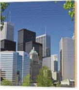 Toronto Downtown Skyline Wood Print