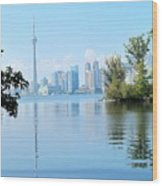 Toronto From The Islands Park Wood Print