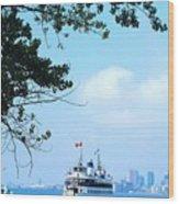 Toronto Island Ferry Wood Print
