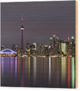 Toronto Lights Wood Print