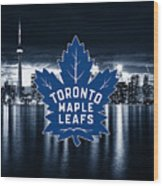 Toronto Maple Leafs Nhl Hockey Wood Print