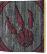 Toronto Raptors Wood Fence Wood Print