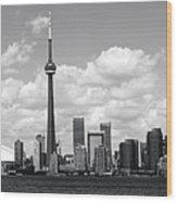 Toronto Skyline 11 Wood Print