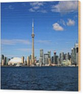 Toronto Skyline 26 Wood Print