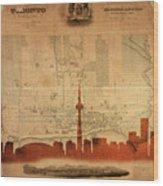 Toronto Skyline 36 Wood Print