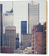 Toronto - Skyline Wood Print