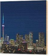 Toronto Skyline And World Pride Wood Print