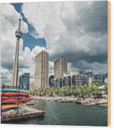 Toronto - Skyline / Harbourfront Wood Print