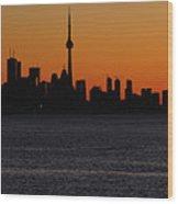 Toronto Skyline Wood Print