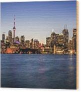 Toronto Sundown Wood Print