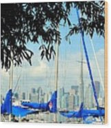 Toronto Through A Forest Of Masts Wood Print