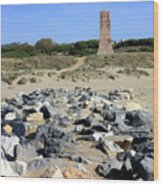 Torre De Los Ladrones At Cabopino Wood Print