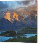 Torres Del Paine National Park, Chile Wood Print
