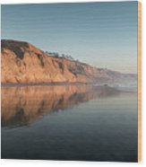Torrey Pines Clear Skies And Sunset Wood Print