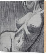 Torso 6 - Female Nude  Wood Print