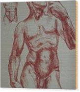 Torso Of  Michelangelo   David  Wood Print
