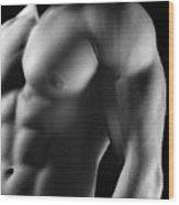 Torso Of Model J Wood Print