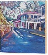 Tortola  Main Street Wood Print