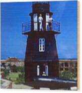 Tortugas Light Wood Print