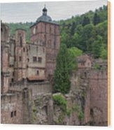 Torturm And Seltenleer Heidelberger Schloss Wood Print