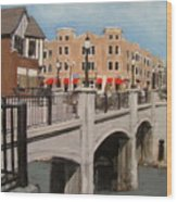 Tosa Village Bridge Wood Print